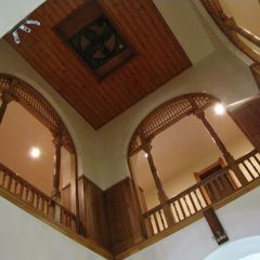 Looking up at the 2nd floor