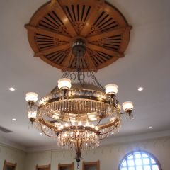 The chandelier and medallion are original to the courthouse.