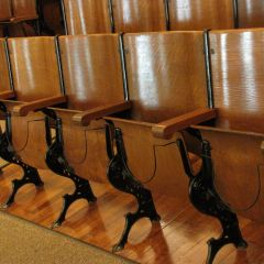 Row of original seats