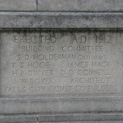 Grundy County Courthouse cornerstone