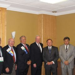 ISBA leaders with Illinois delegate Robert Clifford