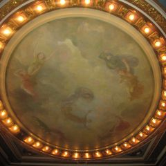 Ceiling art in the Illinois Supreme Court courtroom