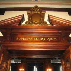 Entrance to the Illinois Supreme Court courtroom