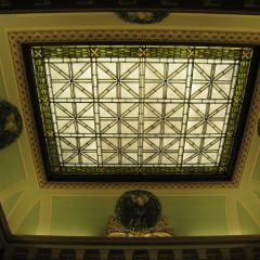 Ceiling above the main staircase