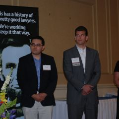 ISBA Lincoln Award Legal Writing Contest winners Isaac Colunga, George Schoenbeck, Kerry Bryson