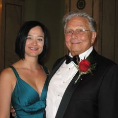 Summer Soiree co-chair Adela Lucchesi with ISBA President Jack Carey