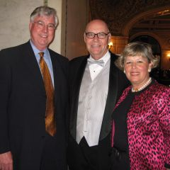 George Mahoney, Hon. James Holderman, ISBA Board of Governors member Paula Holderman