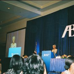 Hon. Arnette R. Hubbard addresses the audience after accepting her Brent Award.