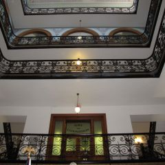 Ornate railings of interior dome