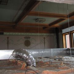 Original courtroom details - now hidden by drop ceiling