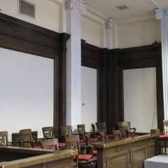 Jury box in Courtroom 300