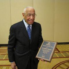 Judge Leighton with his award