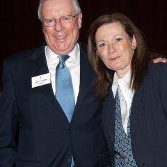 New initiates John O'Brien and Julie Ann Sebastian
