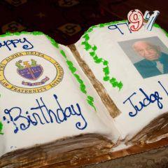 Judge Leighton's 97th Birthday Cake.