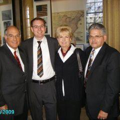 ISBA President Elect Mark Hassakis, Ryan Reguly, Bobbie Lipsky, ISBA member Nolan Lipsky