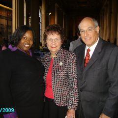 La Toya Dixon, Justice Garman, ISBA President Elect Mark Hassakis