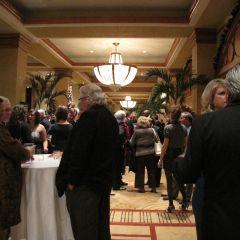 Guests enjoy the Supreme Court Dinner reception.