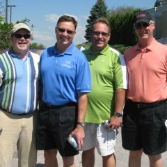 ISBA 2nd Vice President John Locallo (second from left) with the other members of his golf foursome.