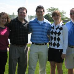Heather Fritsch, YLD Secretary, Bob Fink, YLD Vice Chair, Michael Wong, YLD Golf Outing Co-Chair, Kelley Gandurski, YLD Chair and Justin Heather, YLD Golf Outing Co-Chair at the 2009 Golf Outing in Tinley Park.