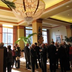 The opening reception at the Sheraton Chicago Hotel & Towers
