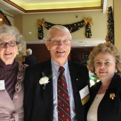 ISBA Past President Irene Bahr (left) with Distinguished Counsellor Arthur W. Fedder and his wife Elizabeth