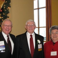 ISBA President John O'Brien (right) with Distinguished Counsellor Nicholas Neiers and his wife