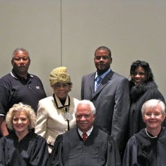 New admittee David Bonner with his family and the justices.