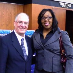 ISBA 2nd Vice President John Thies with new admittee Angelina Clarke Smith of Naperville