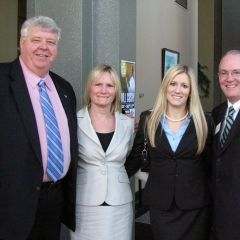 DuPage County Bar Association President Kent Gaertner, his wife Mary, new admittee Kristen Henry and ISBA 3rd VP John Thies