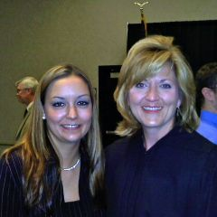 New admittee Elizabeth Johnson and Appellate Justice Mary K. O'Brien