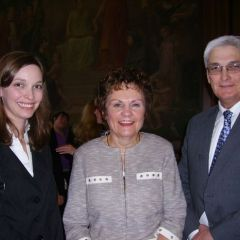 New admittee Amelia S. Buragas of Wisconsin with Illinois Supreme Court Justice Rita Garman and ISBA member and admission ceremony speaker David V. Dorris
