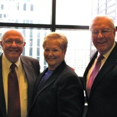 Judge Schleifer with ISBA Past Presidents Dick Thies and John O'Brien