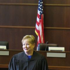 Judge Schleifer speaks after being sworn-in