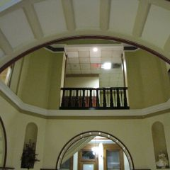 The arches and railings were part of the restoration process.
