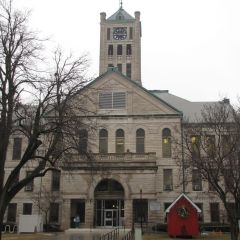 The Christian County Courthouse was built in Taylorville in 1902 for $100,535.80.