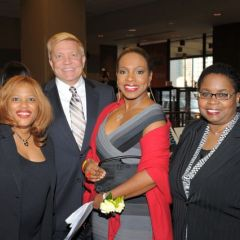 Women's Bar Association President Hon. Patrice Ball-Reed, 2nd Ward Ald. Robert Fioretti, Mistress of Ceremonies and actress Sheryl Lee Ralph and the Hon. Shelvin Louise Marie Hall