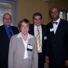James McCluskey, Chris Ory, Richard Felice, IBF President Vince Cornelius