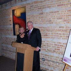 President O'Brien and his wife, Karen