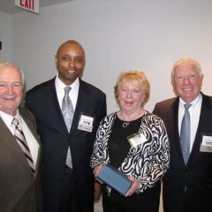 Charter members Thomas Killarney (left) and Eileen Killarney (second from right) with Vince Cornelius and David Sosin