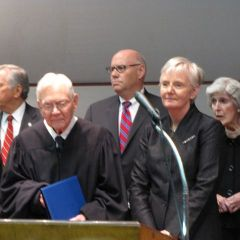 Retiring Justice Fitzgerald and newest Justice Theis