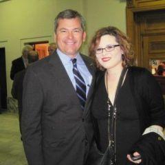 Newly sworn-in Judge William Mudge with his daughter, Lauren