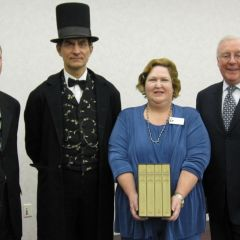 "President O'Brien and President-elect Hassakis present ""The Papers of Abraham Lincoln"" photo gallery"