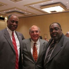 Judge Leonard Murray, ISBA President Hassakis, Judge Orville E. Hambright