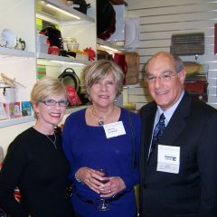 ISBA President-Elect Mark Hassakis and his wife Janet (left) with Sharon Kincaid