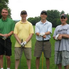 Charlie O'Malley of the Law Office of James Hursh, Belvidere; Judge Brendan Maher, Joel Huotari of Williams McCarthy and Steve Balogh of Williams McCarthy