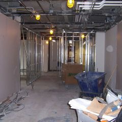 This is the IBF space during demolition.
