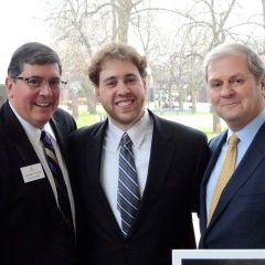 ISBA 3rd Vice President Richard D. Felice and new admittees Chris Stanton and Brian Telander