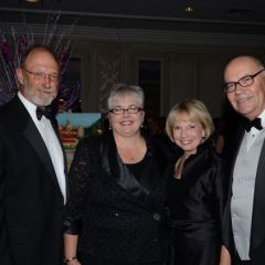 Al Pope, IJA President M. Carol Pope, Karen O'Brien and Chief Judge James Holderman