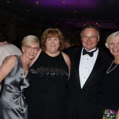 Janet Hassakis, Gala Raffle Co-Chair and ISBA Board member Lisa Nyuli, and Illinois Supreme Court Justice Lloyd Karmeier and his wife, Mary