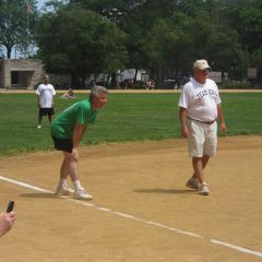 Due to a player shortage on the CBA team, ISBA Board member Carl Draper helped lead the green team to victory